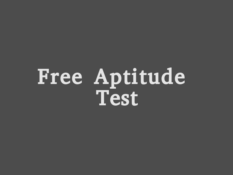 FREE MOCK APTITUDE TEST FOR COMPETITIVE EXAMS
